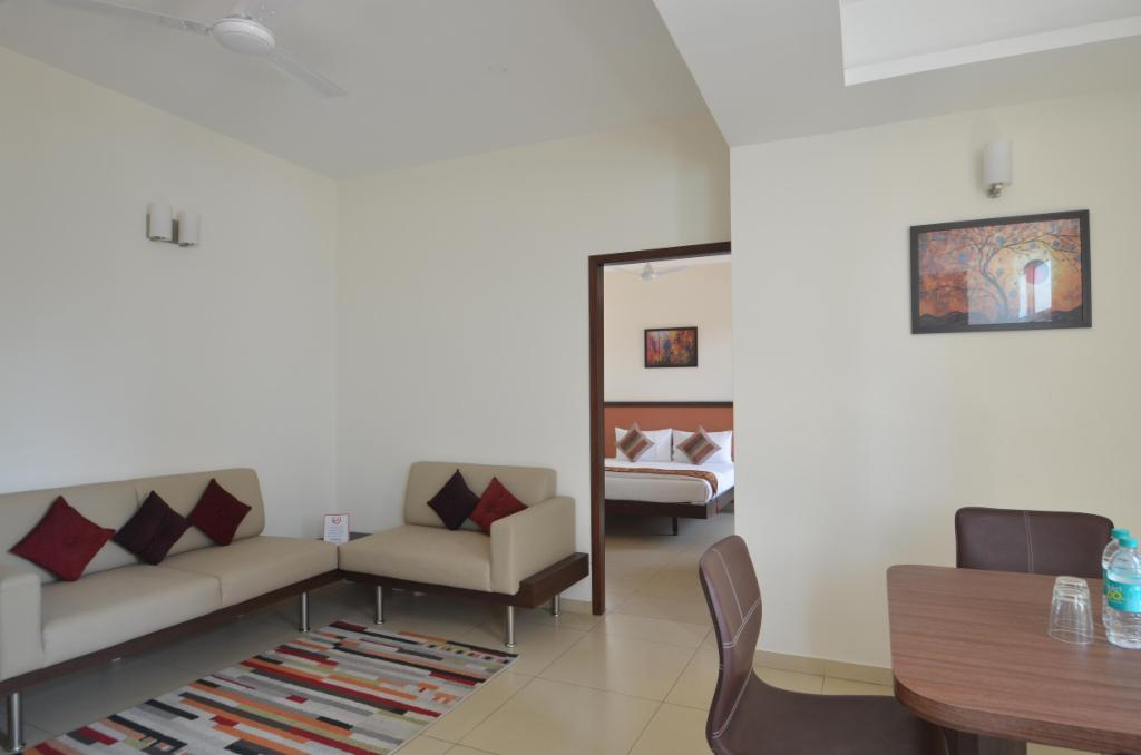 Living Room |  Furnished Service apartments in Indiranagar, Bangalore