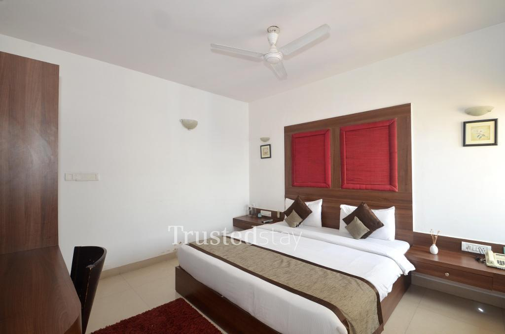 Master bedroom | Alcove  Service Apartments in Bangalore
