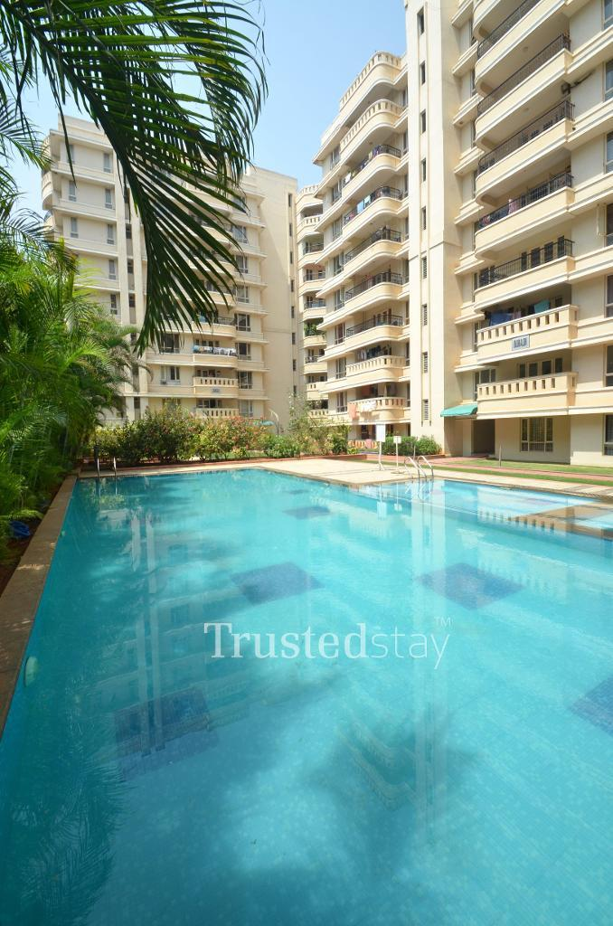 Swimming pool | Alcove Service Apartments in Marathahalli