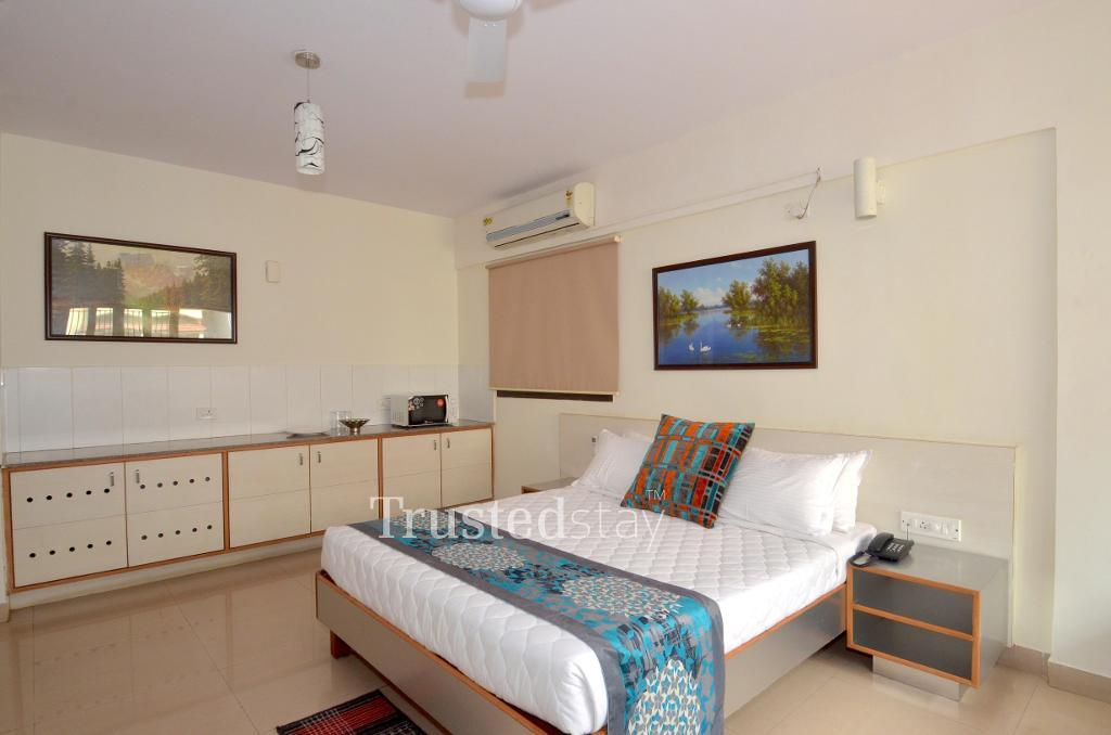 Master Bedroom | serviced apartments in Marathahalli, Bangalore