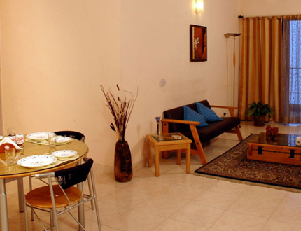 Living room | Service apartments  in Bangalore