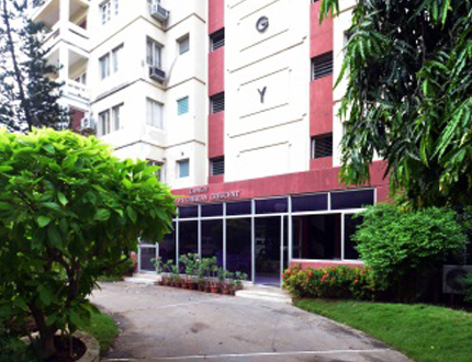 Book Alcove Service Apartments in Egmore | Living Area