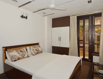 Service Apartments in  Hemkunt Colony, New Delhi| Bedroom one
