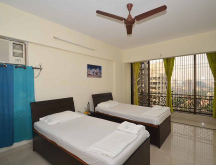 Bed Room | serviced apartments in Malad East, Bangalore